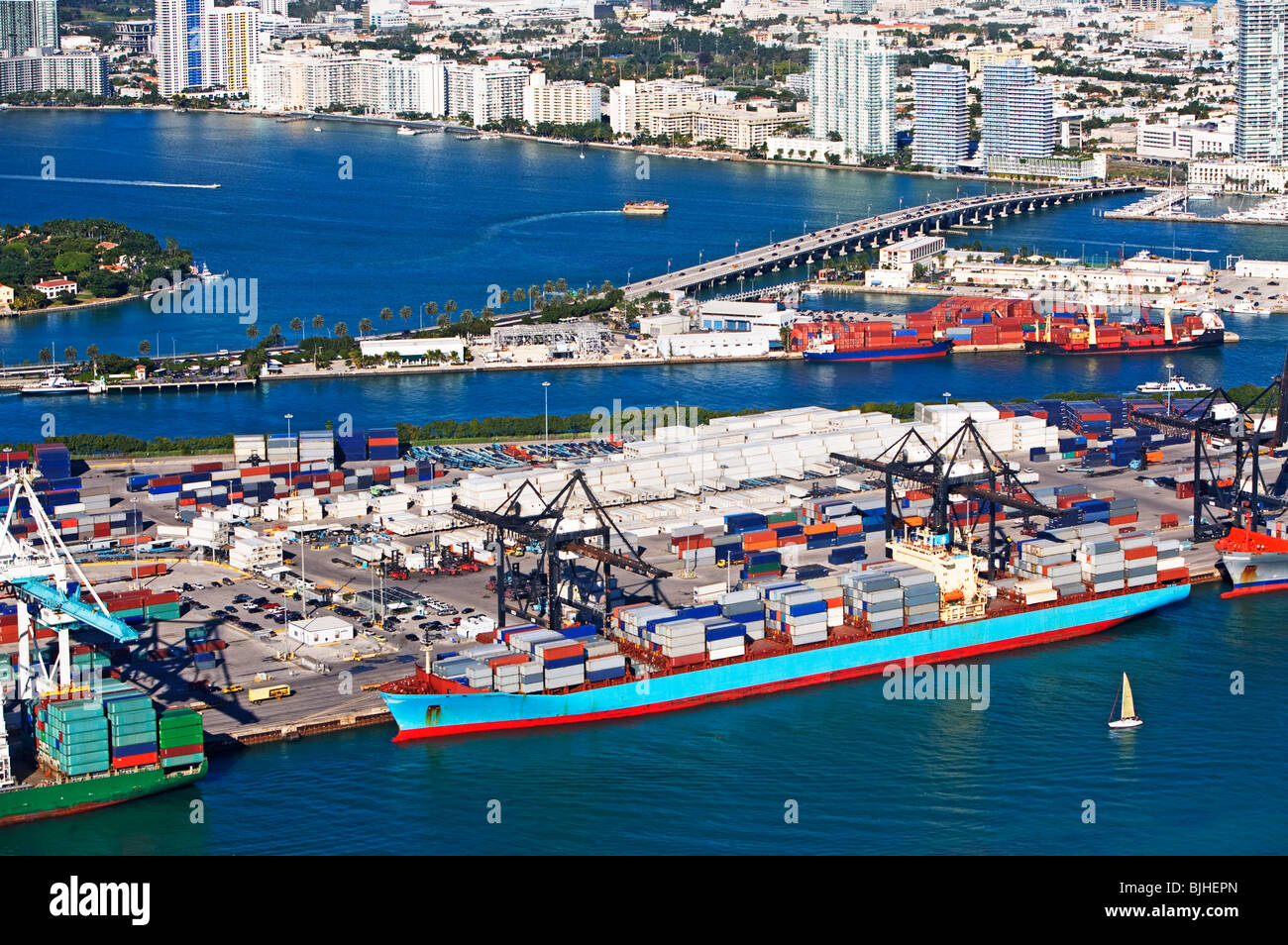 Commercial Dock - Stock Image