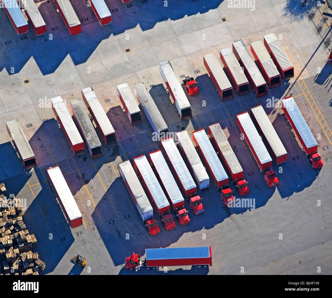 Freight trucks - Stock Image