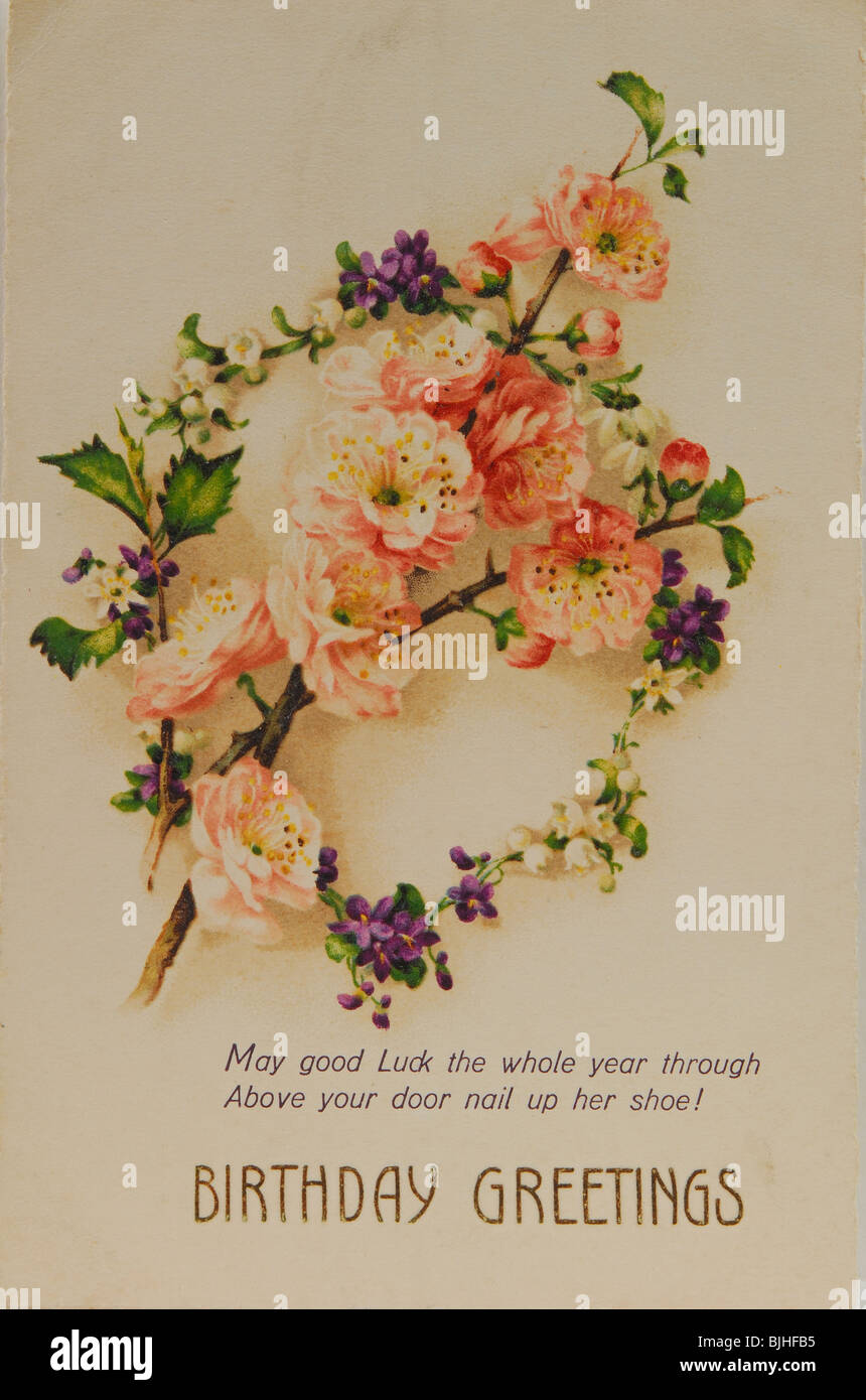A Vintage Birthday Card UK Circa 1930