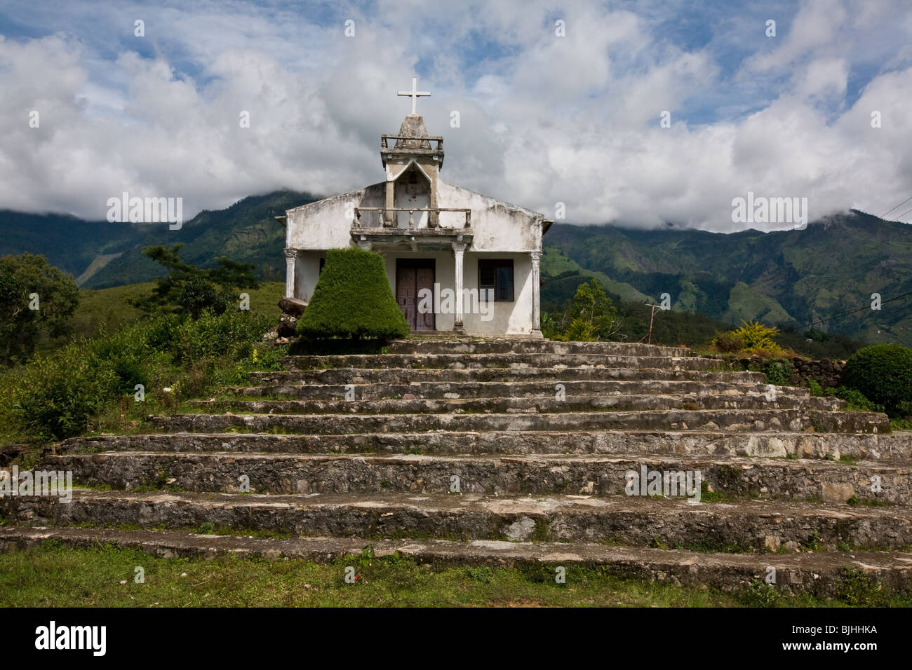 Small church. Near Maubisse, East Timor. - Stock Image