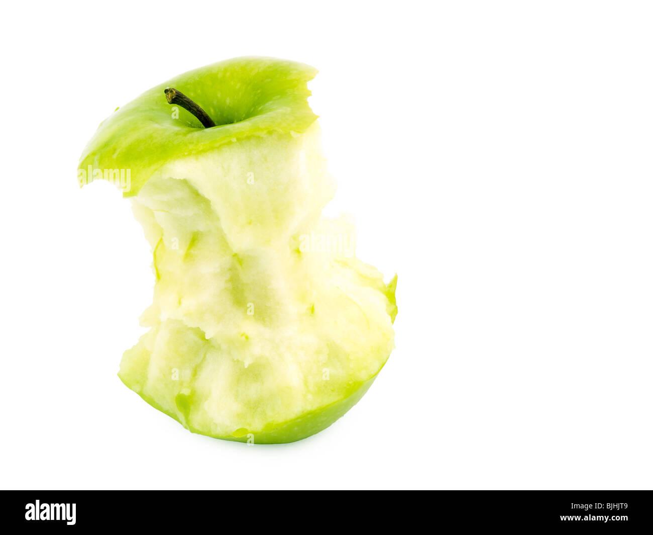 Apple scrap on white background - Stock Image