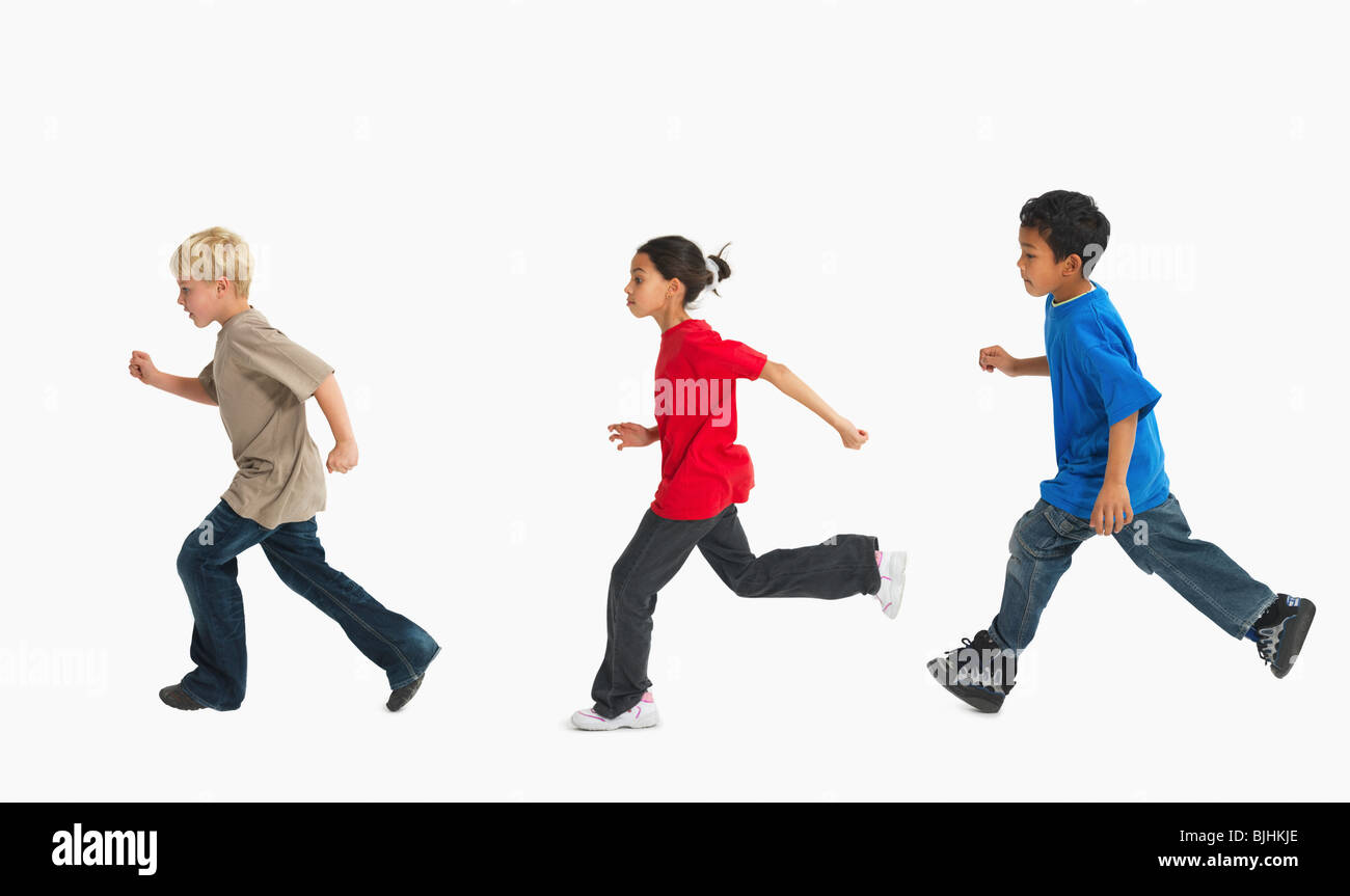 Children running Stock Photo