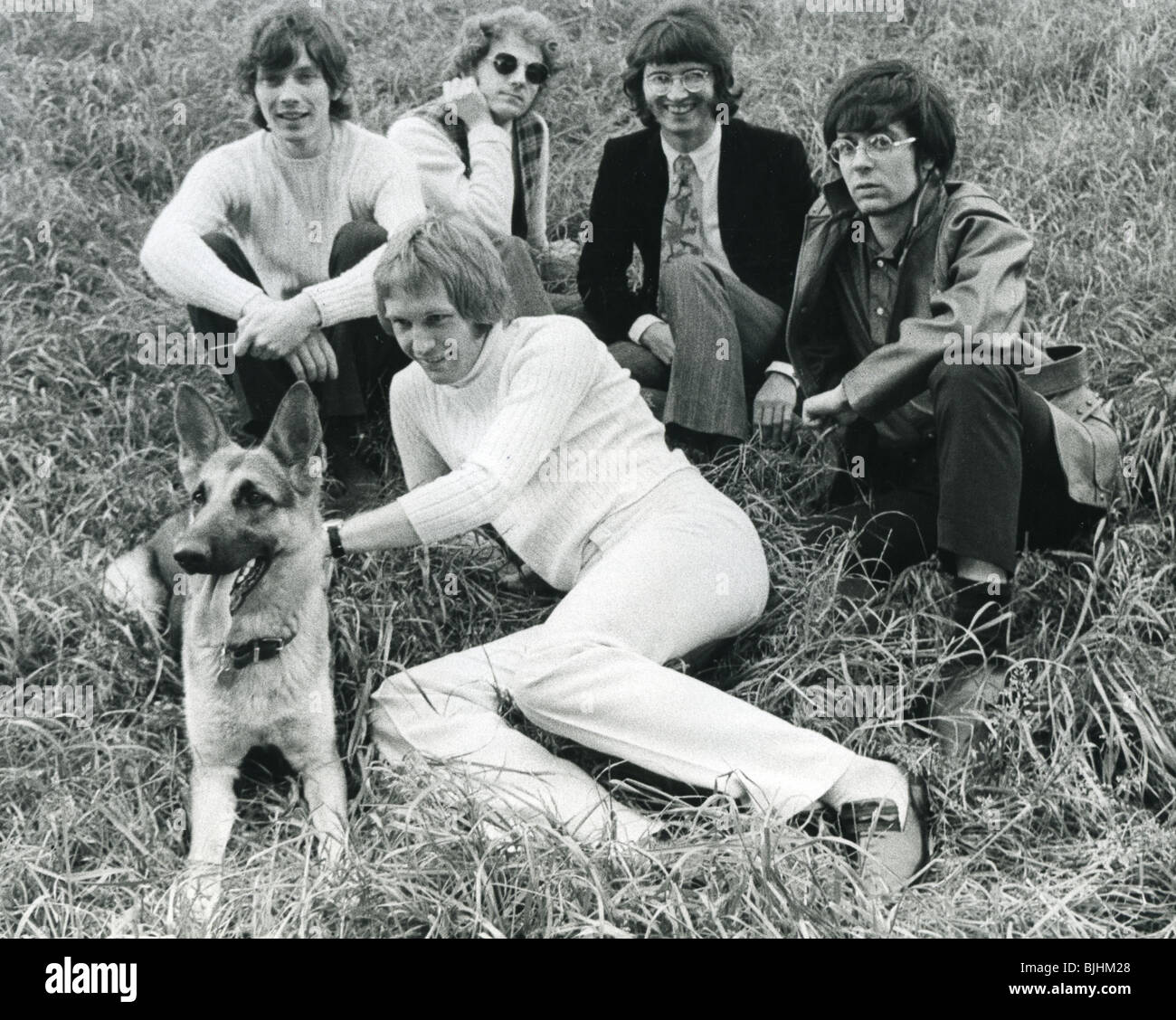 MANFRED MANN - UK group in 1968 with Mike d'Abo - see Description below for lineup - Stock Image