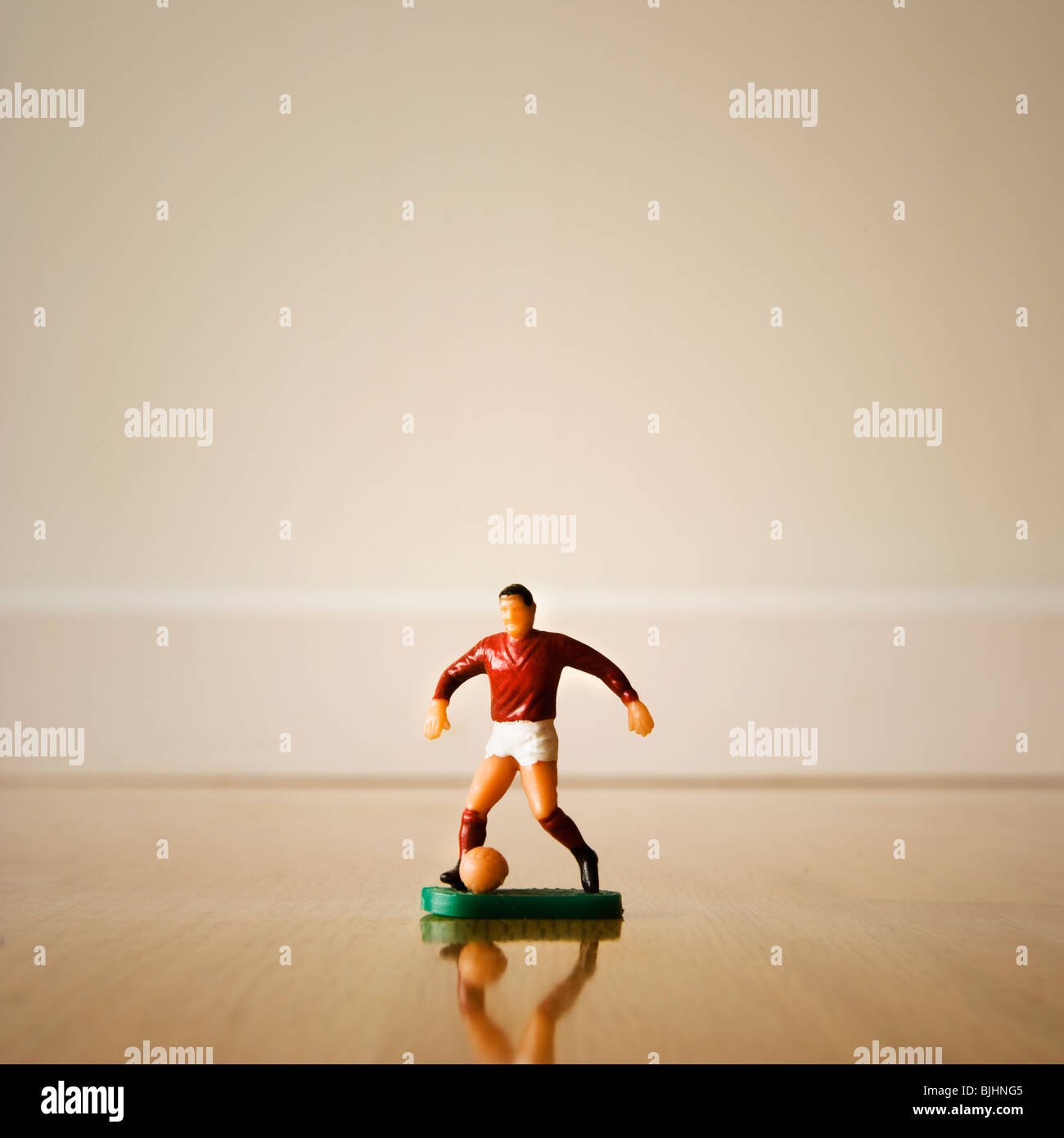 Figurine of a soccer player - Stock Image