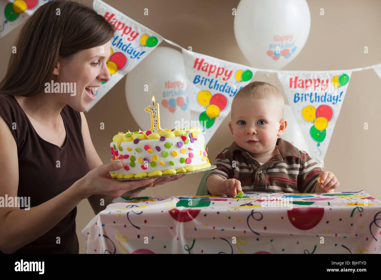 First birthday - Stock Image