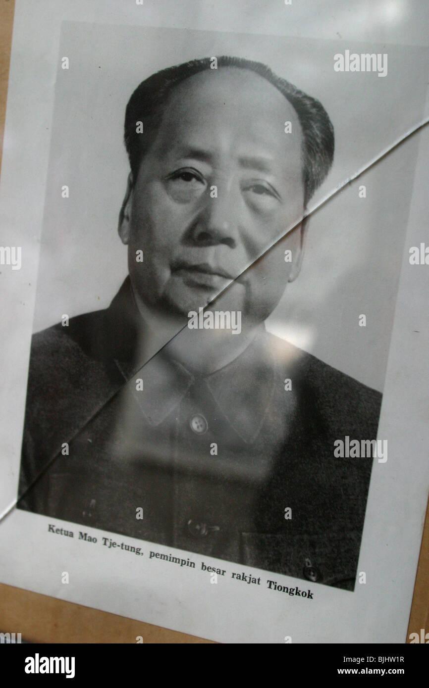 Chairman Mao communist memorabilia, Kunming, China. - Stock Image