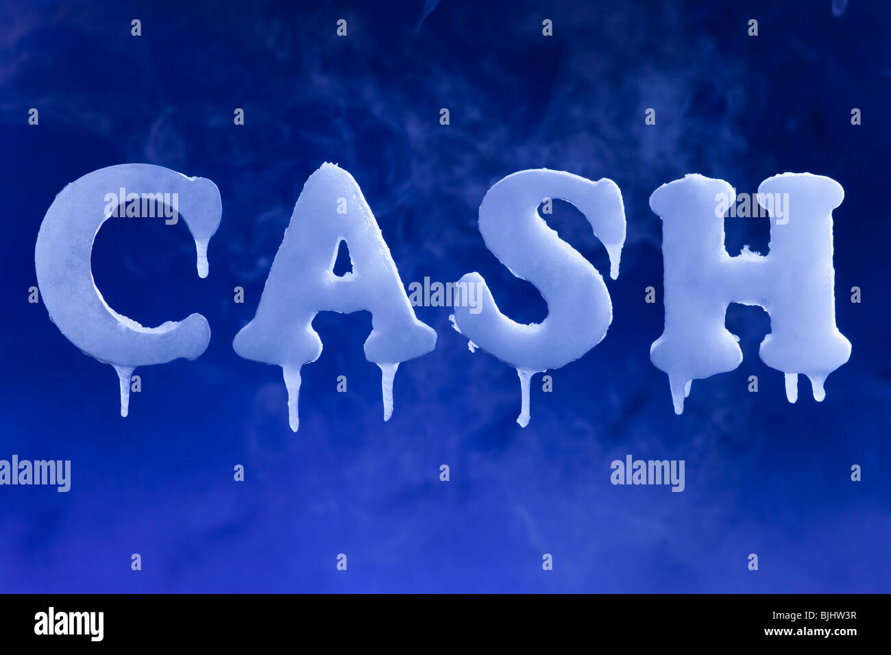 Cold hard cash - Stock Image