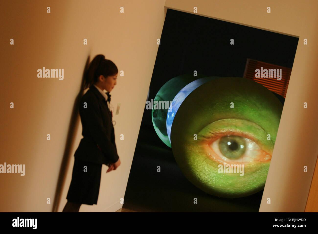 'Fondation Cartier pour l'art contemporain' exhibition at museum of contemporary Art, Tokyo, Japan - Stock Image
