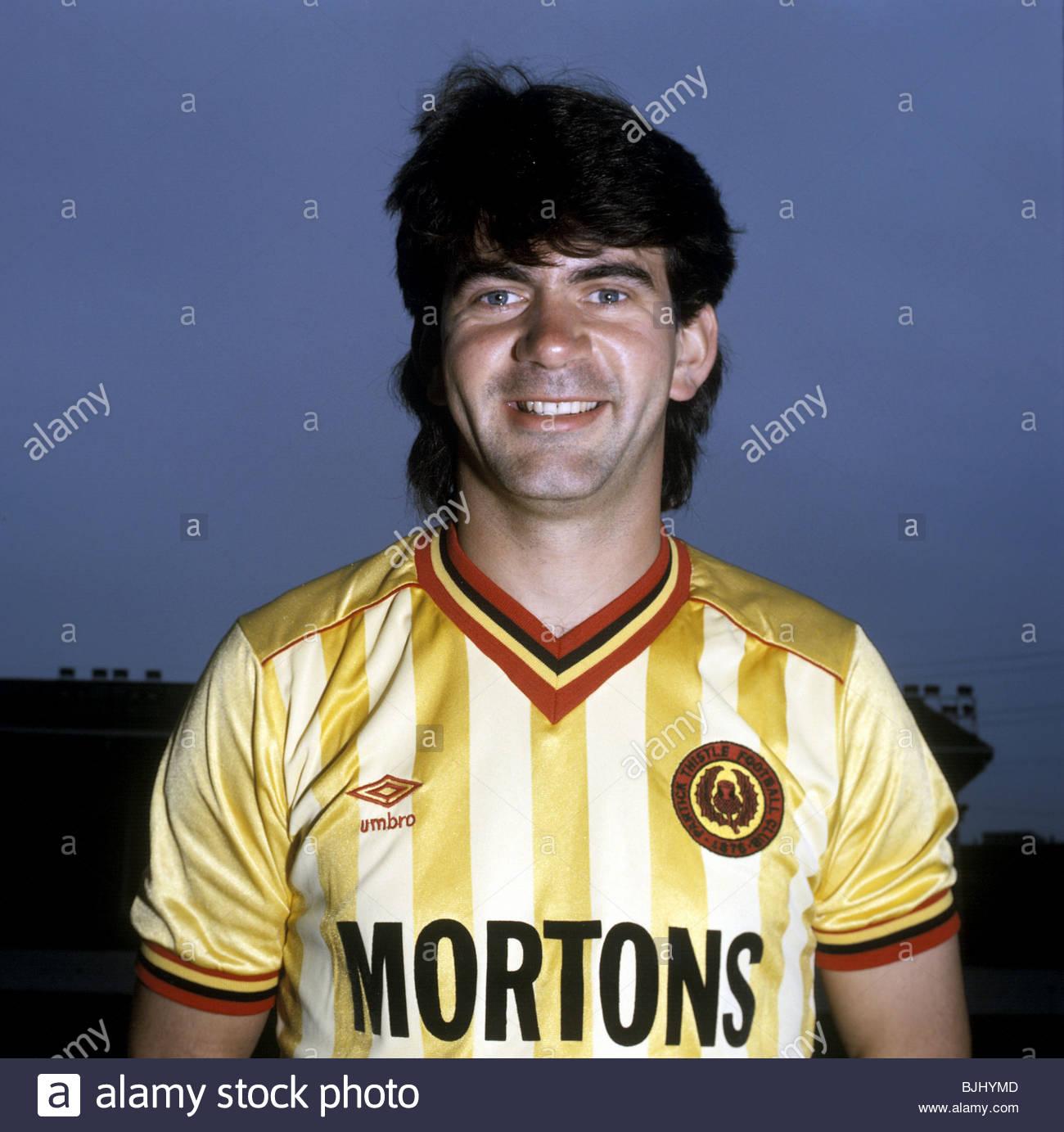 1985/1986 PARTICK THISTLE Gordon Dalziel - Stock Image