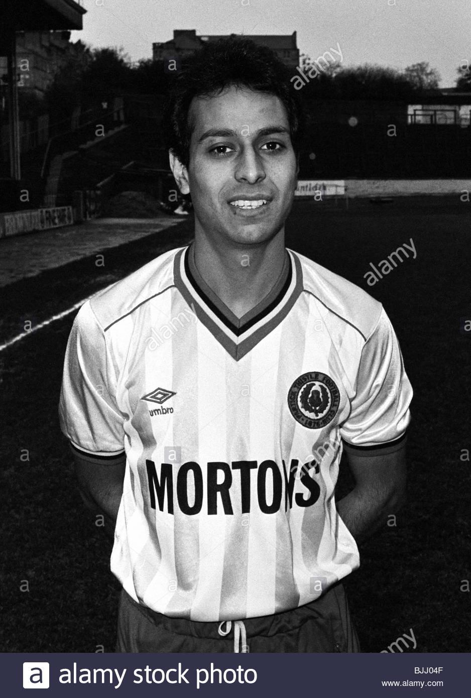 1985/1986 Partick Thistle's Joey Pathak Stock Photo
