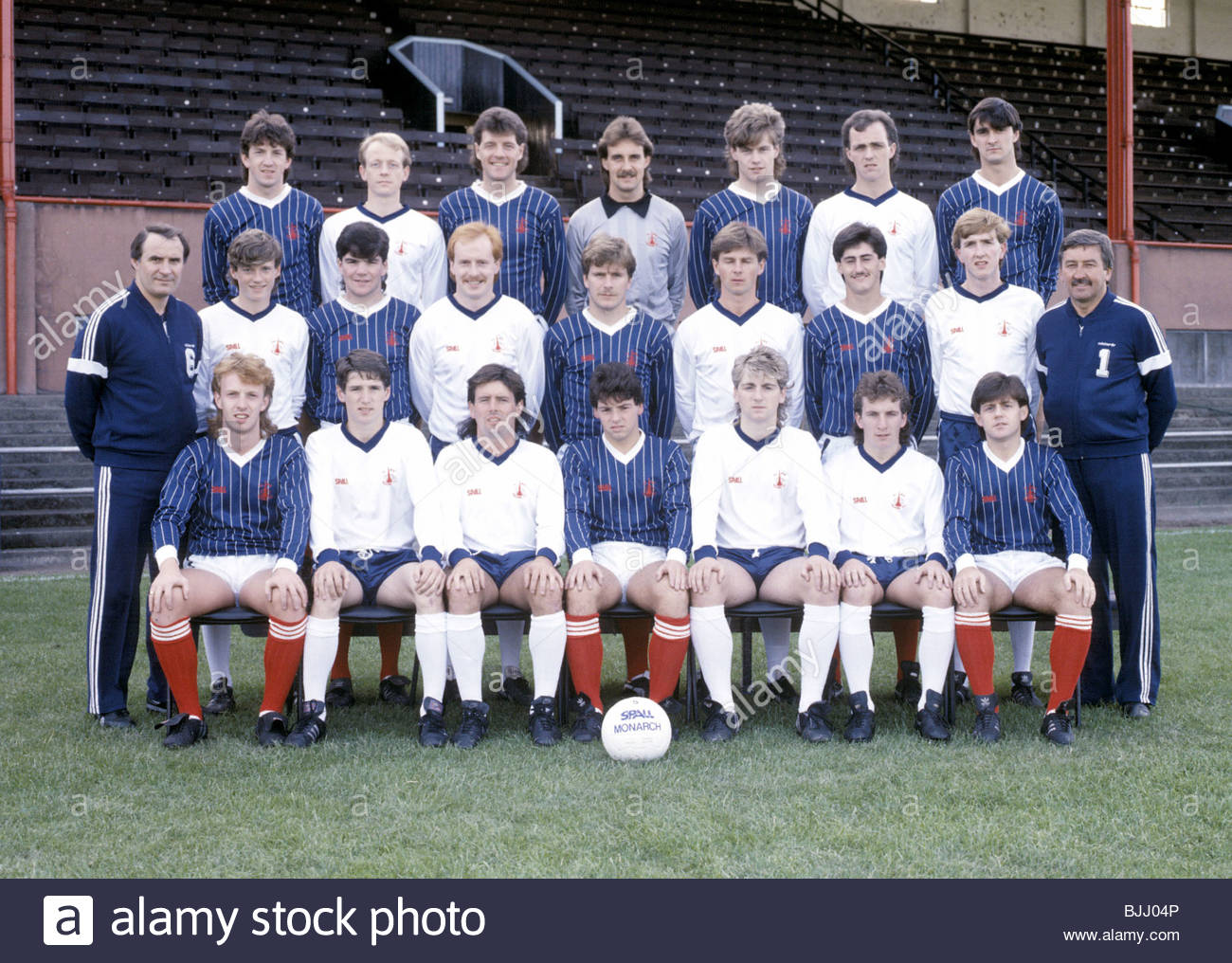 SEASON 1985/1986 FALKIRK Falkirk team picture - Stock Image
