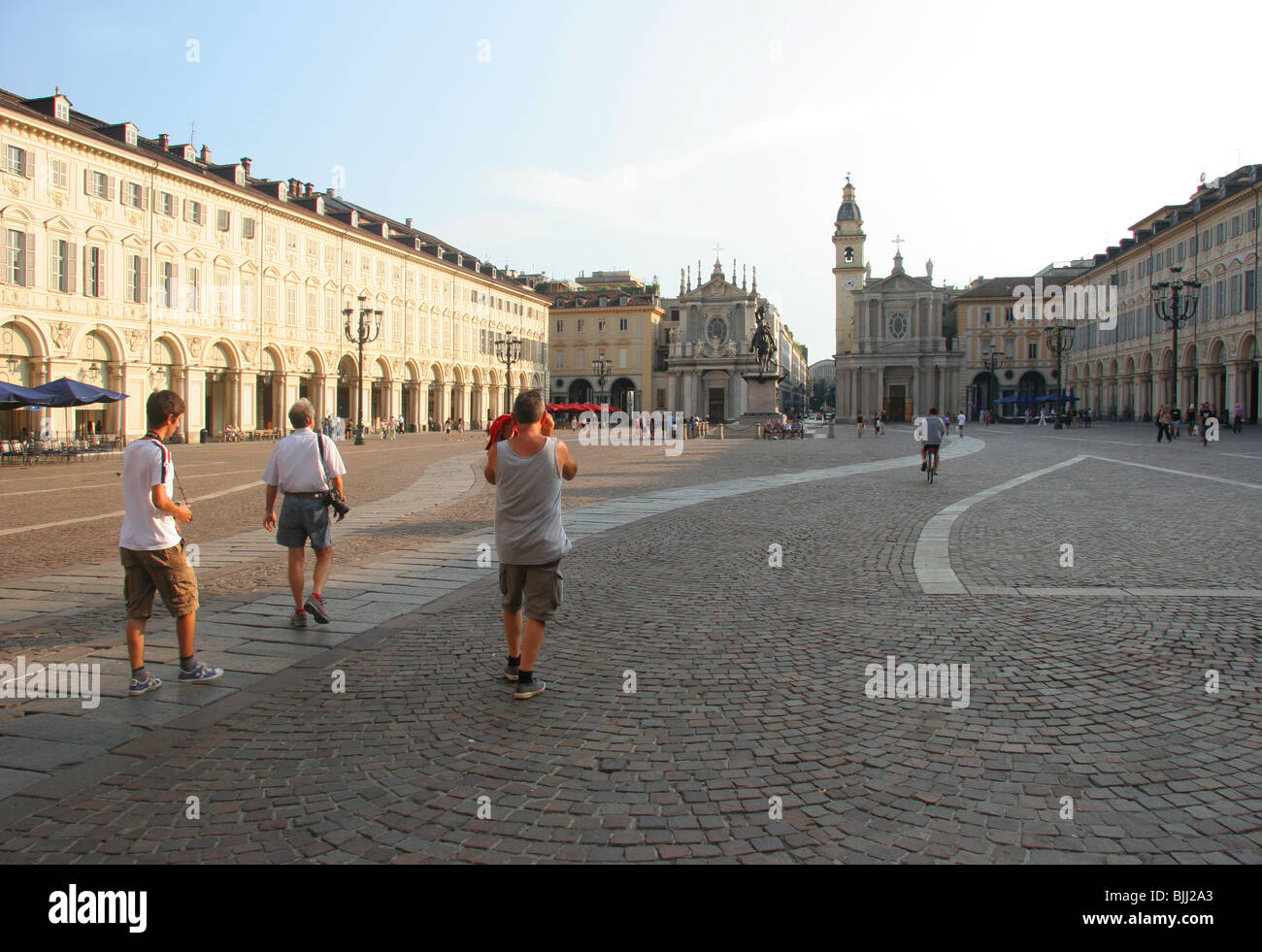 Turin :San Carlo Square. - Stock Image