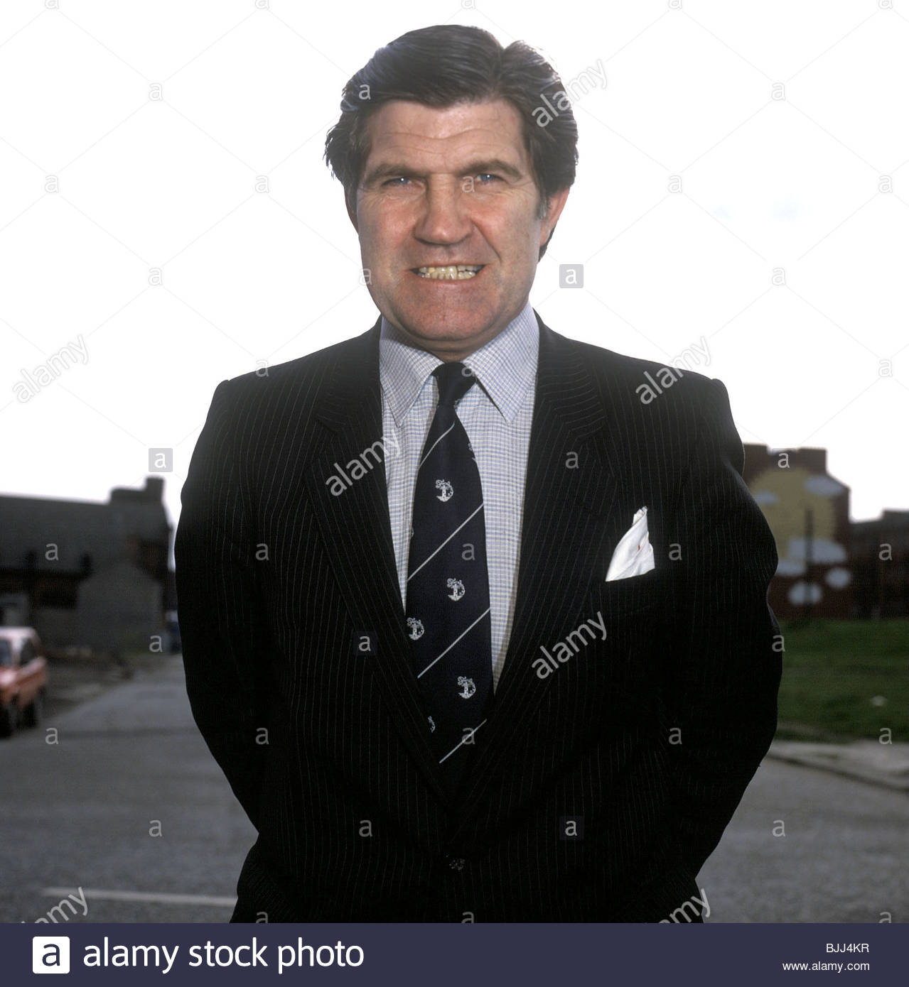 1986/1987 Partick Thistle manager Bertie Auld Stock Photo