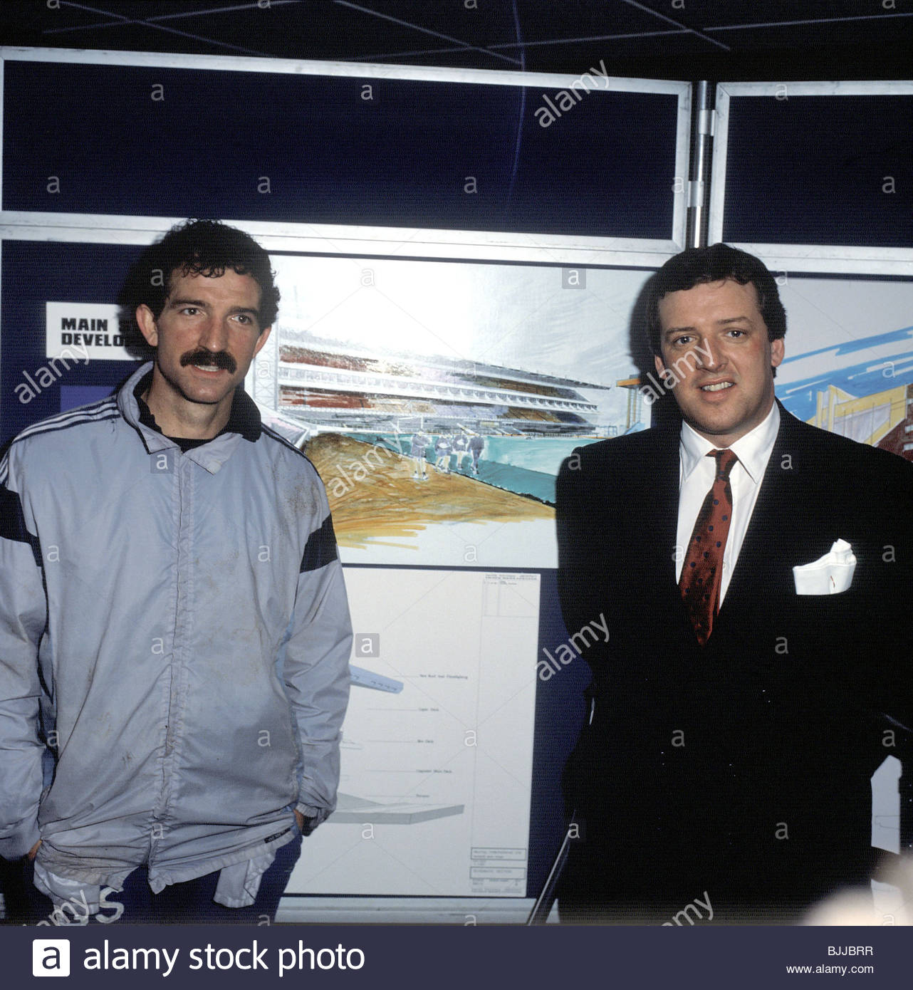 1988/1989 Rangers manager Graeme Souness and chairman David Murray at the launch of plans to develop Ibrox - Stock Image