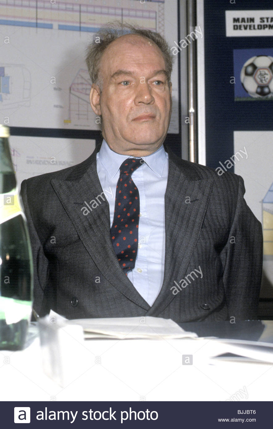 1988/1989 Rangers director Hugh Adams at the launch of plans to develop Ibrox - Stock Image