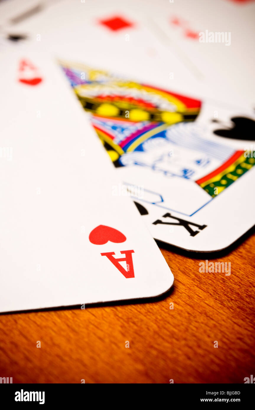 playing cards - Stock Image