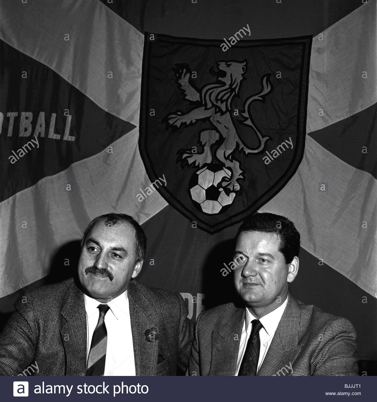1989/1990 The Scottish Football League's Jim Farry and Peter Donald - Stock Image