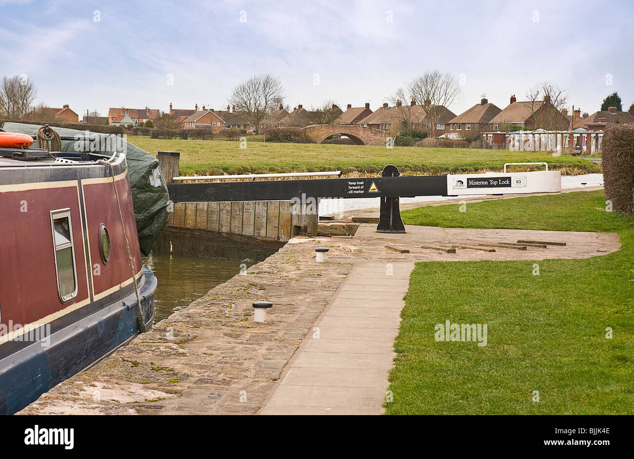Misterton Top Lock, Chesterfield Canal, Nottinghamshire Stock Photo