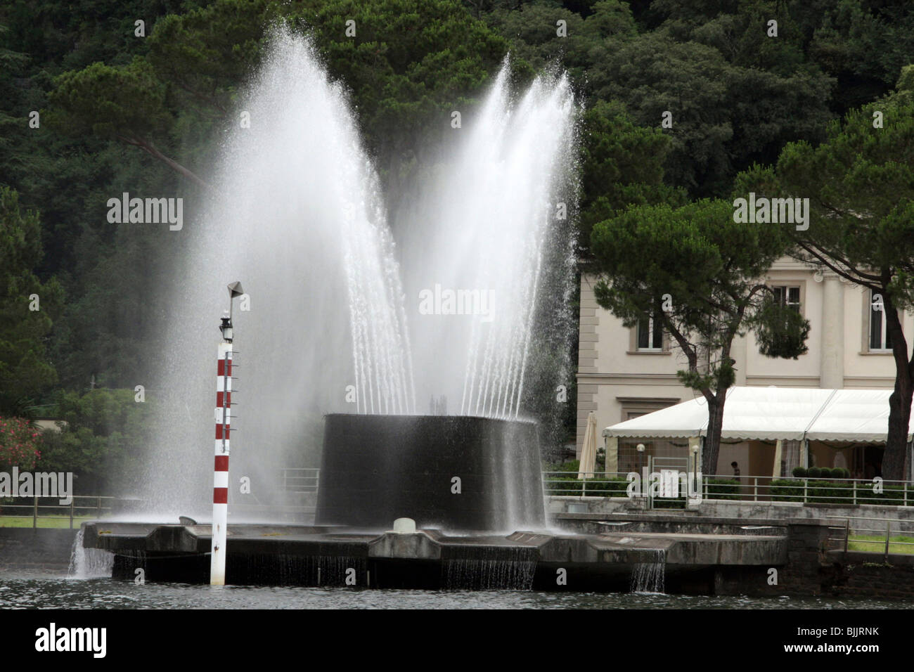 Italy, Lombardy, Como, a fountain - Stock Image
