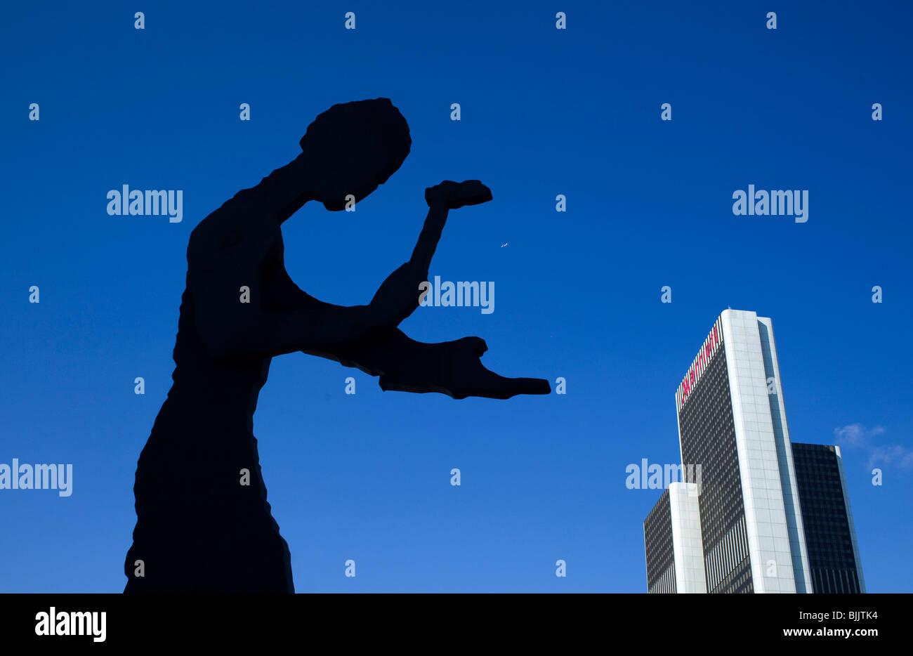Hammering Man, by Jonathan Borovsky, Messe, Frankfurt, Hesse, Germany, Europe Stock Photo