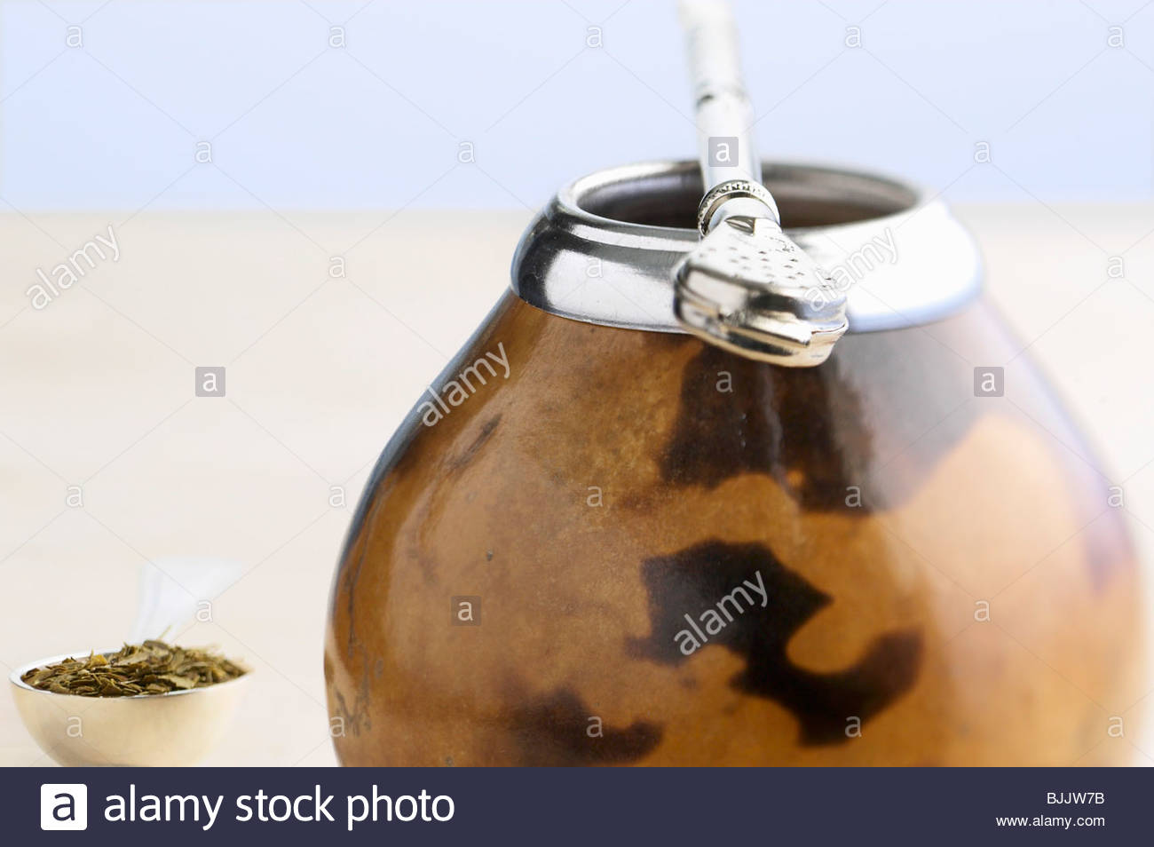 Calebasse (classic vessel for mate tea, S. America) - Stock Image