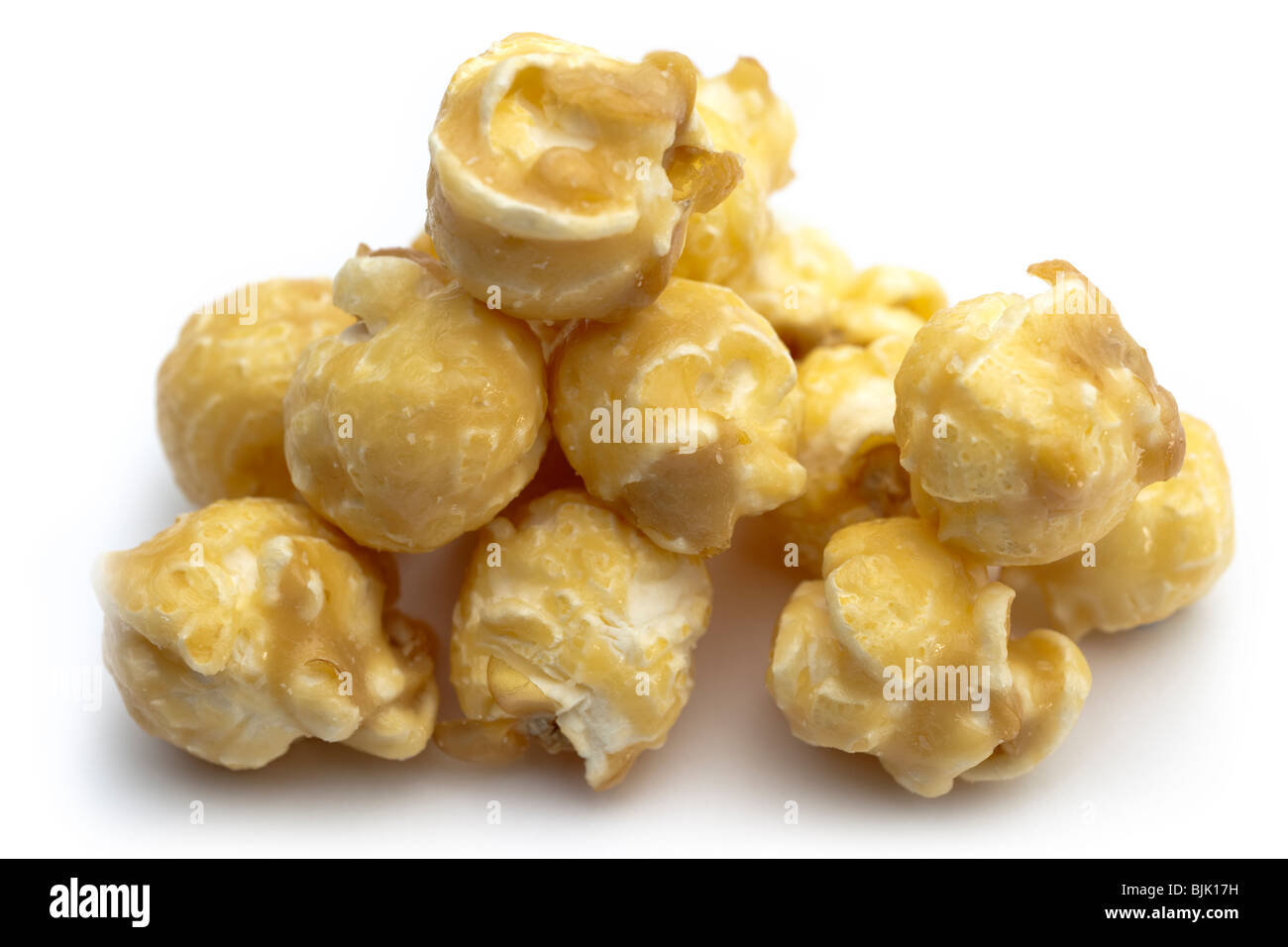 Pile of toffee covered popcorn - Stock Image