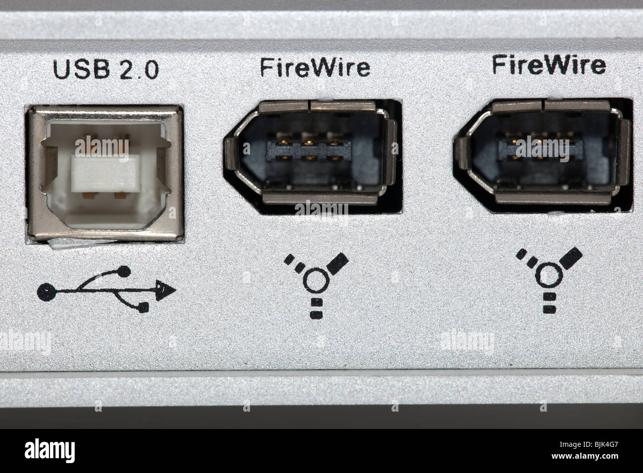 Usb 2.0 and two firewire ports Stock Photo: 28694855 - Alamy