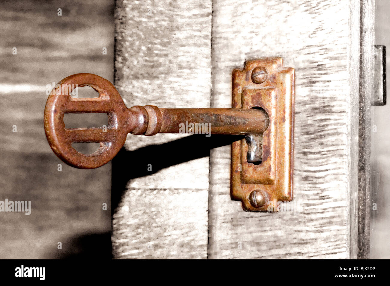 Antique Cabinet Lock and Key - Antique Cabinet Lock And Key Stock Photo: 28695570 - Alamy