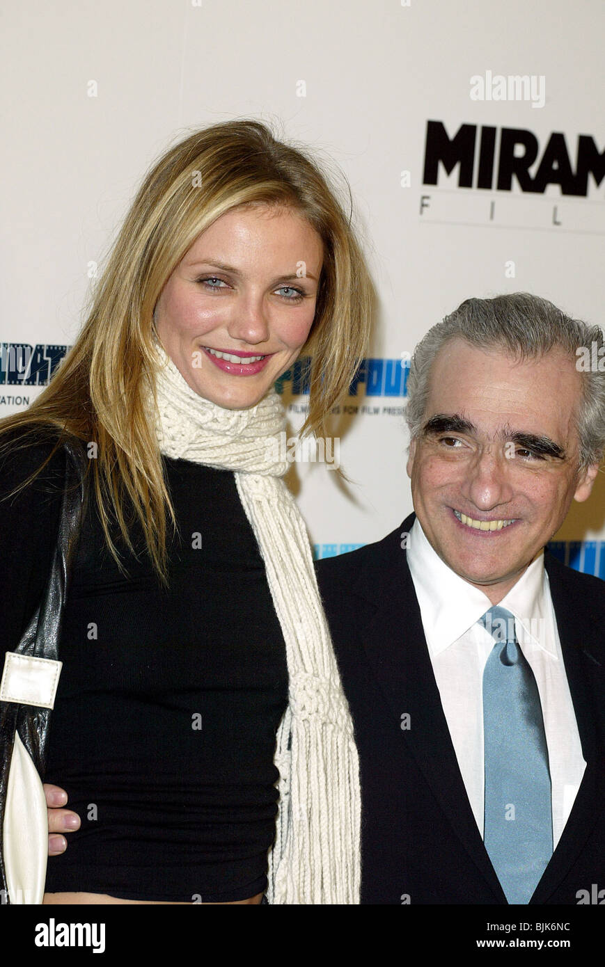 CAMERON DIAZ & MARTIN SCORSESE GANGS OF NEW YORK LA PREMIERE DGA LOS ANGELES USA 17 December 2002 - Stock Image