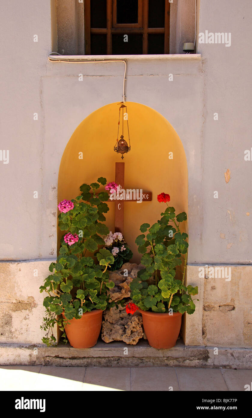 Moni Kalivianis convent, orphanage, girl boarding school and retirement home, Crete, Greece, Europe Stock Photo