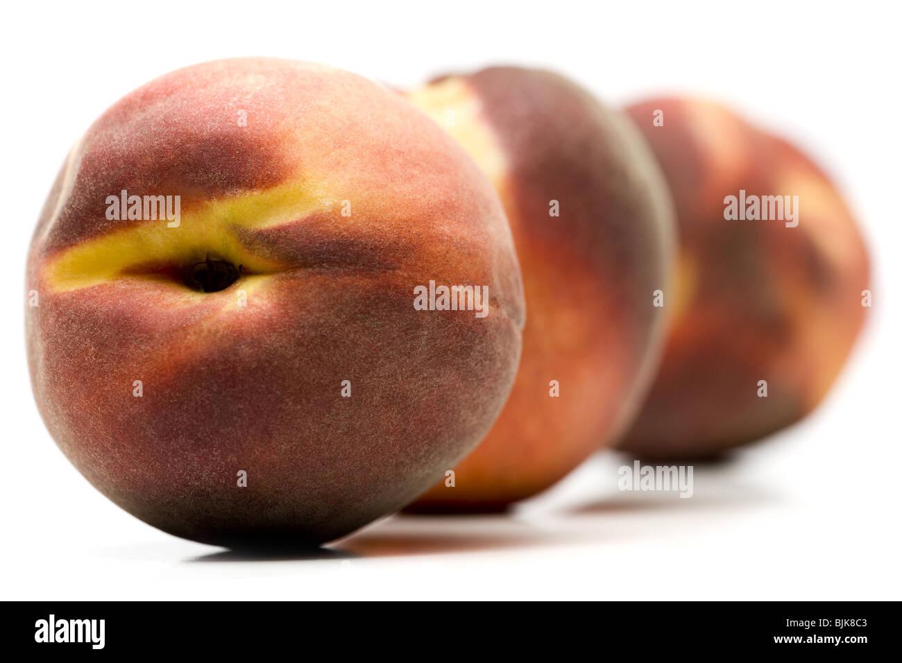 Three peaches - Stock Image