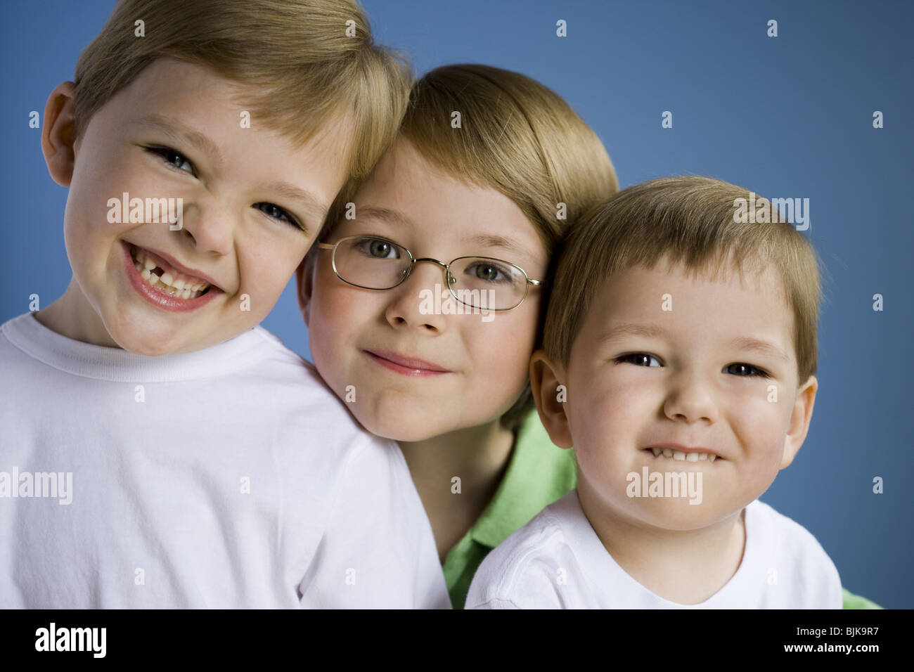 Portrait of three boys - Stock Image