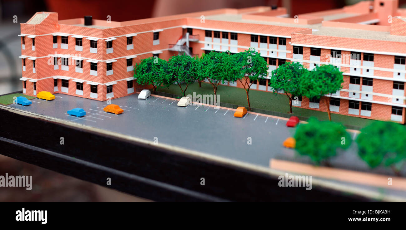 Construction model of a college building. - Stock Image