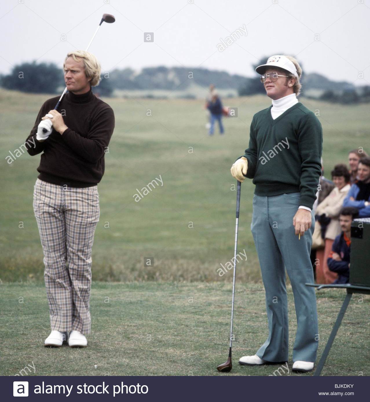 1977/1978 Jack Nicklaus with fellow American Tom Kite. - Stock Image