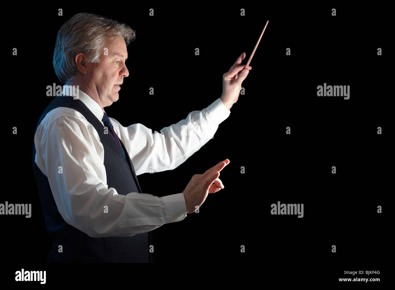 Business man conducting his work and business - Stock Image