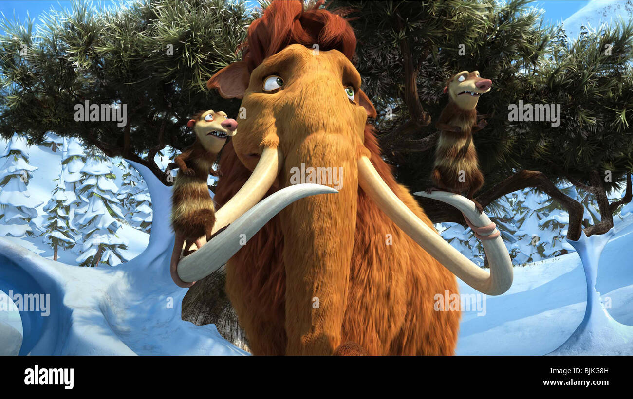 Ice Age Dawn Of The Dinosaurs 2009 Manny Character Carlos Stock Photo Alamy
