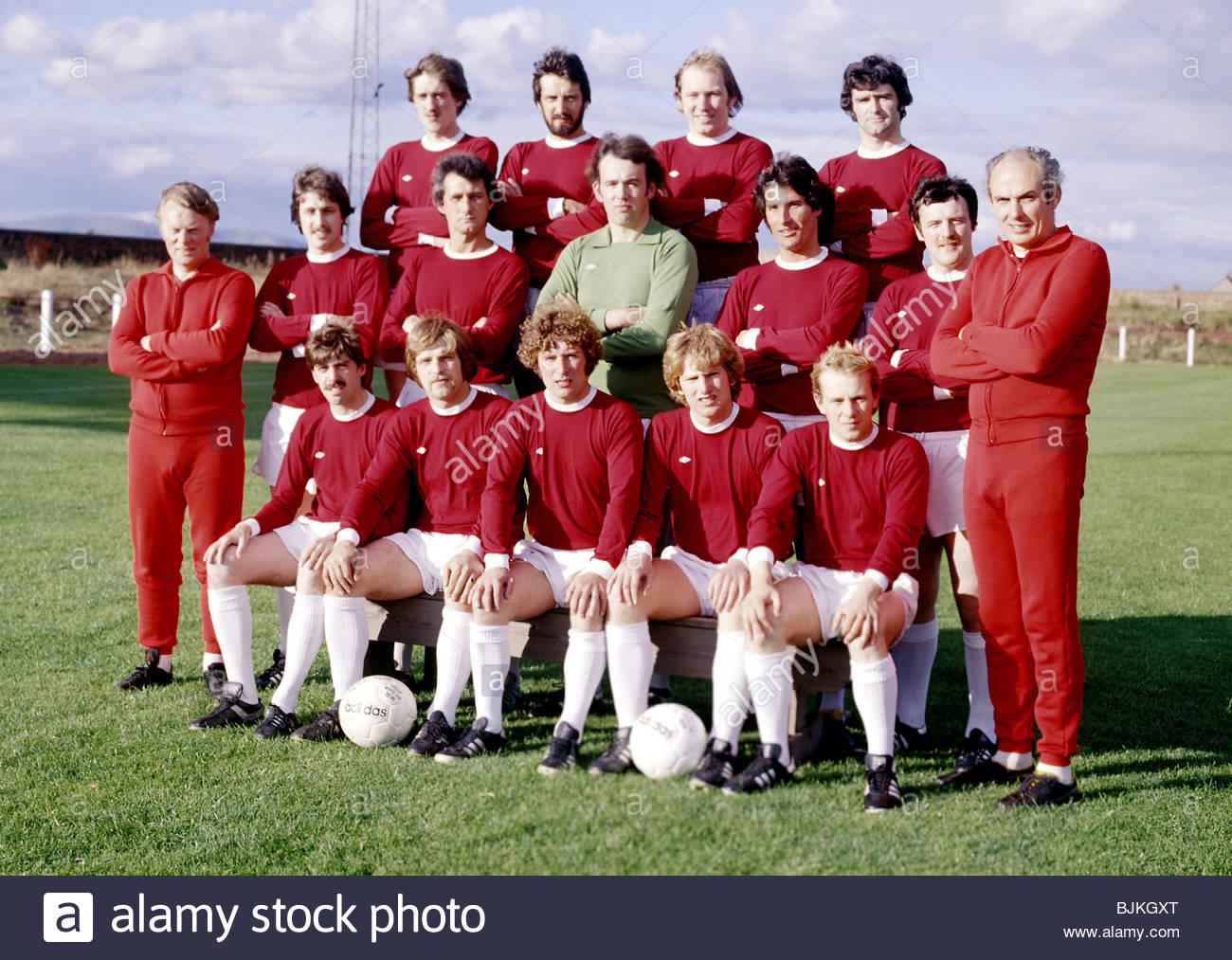SEASON 1979/1980  STENHOUSEMUIR Stenhousemuir team picture - Stock Image