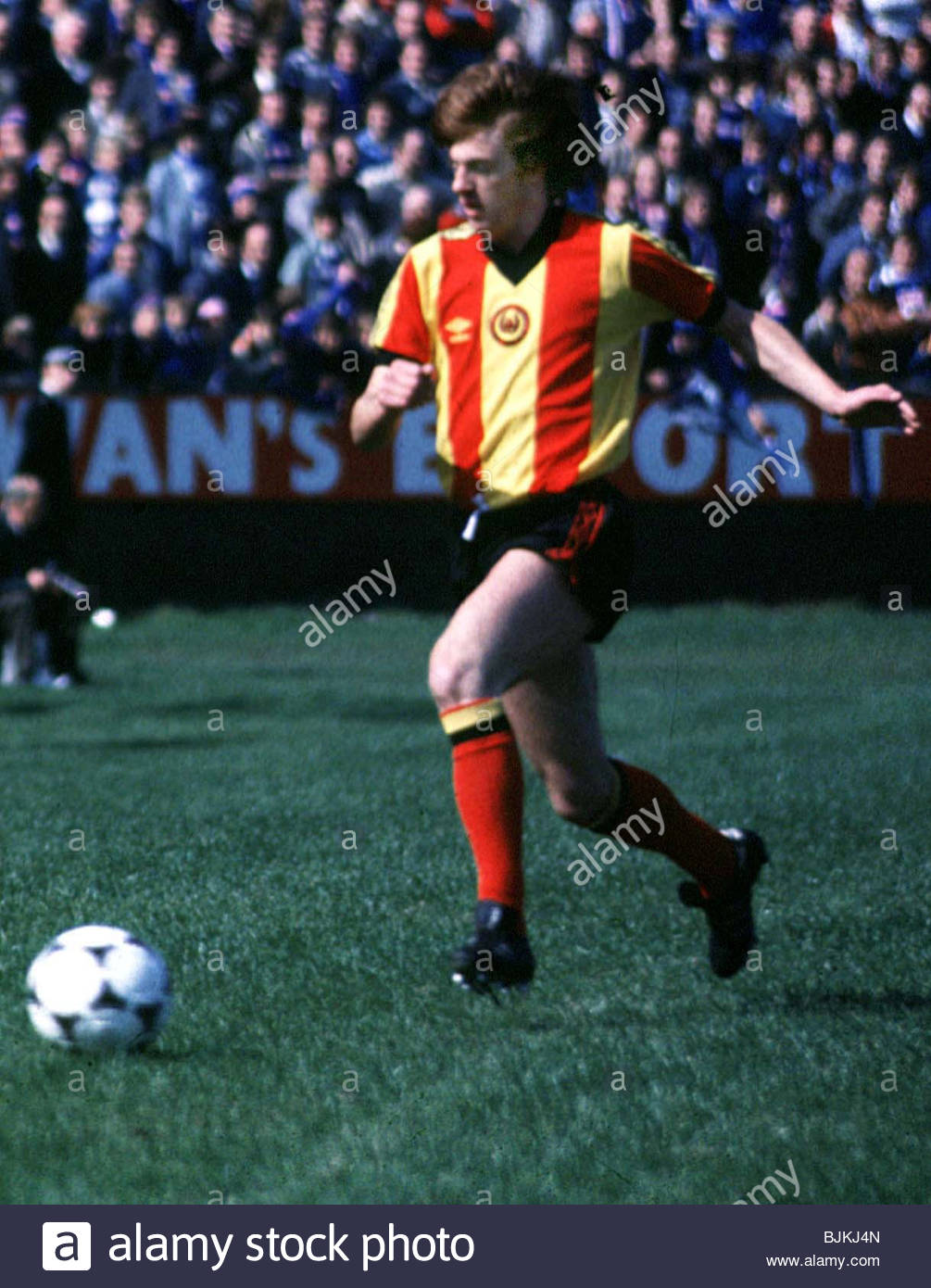 SEASON 1980/1981 PARTICK THISTLE Jim Melrose in action - Stock Image