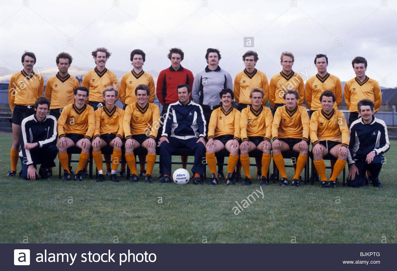 SEASON 1982/1983 ALLOA Alloa Squad. - Stock Image
