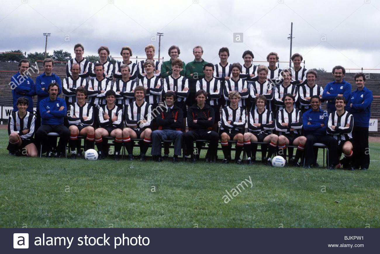 SEASON 1982/1983 DUNFERMLINE Dunfermline squad. - Stock Image