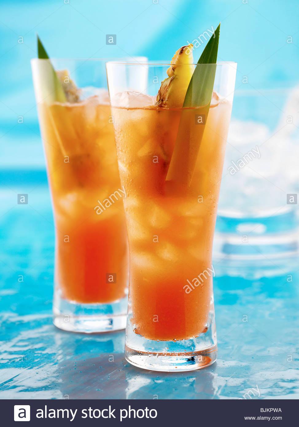 Irish Seduction (Cocktail made with vokda, whiskey & pineapple) - Stock Image