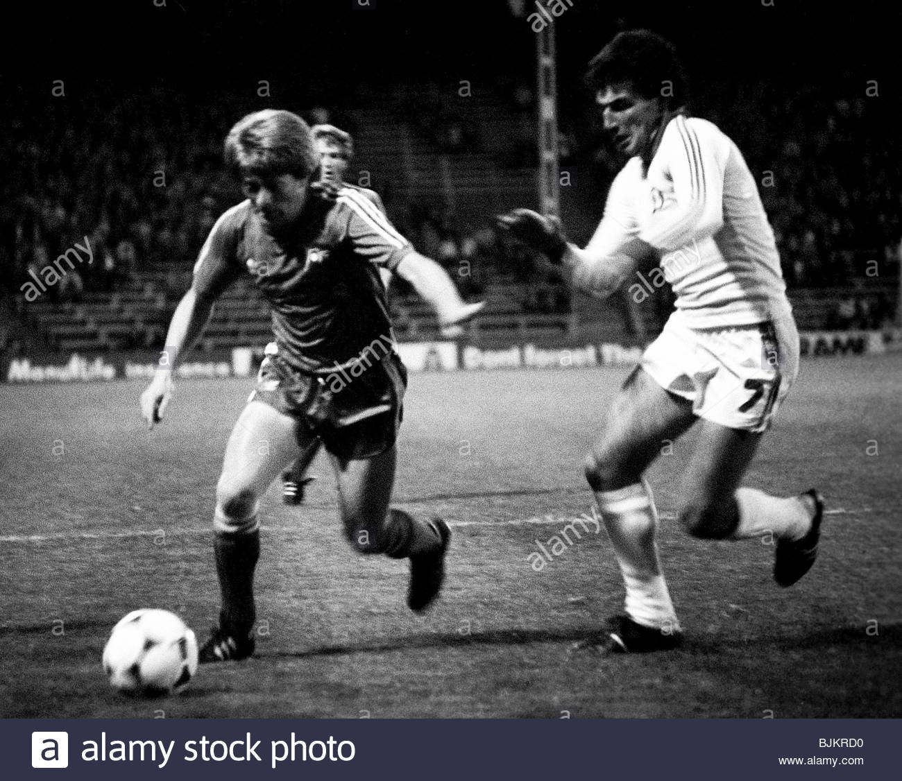 15/09/82 EUROPEAN CUP WINNERS CUP 1ST RND 1ST LEG ABERDEEN V DINAMO TIRANA (1-0) PITTODRIE - ABERDEEN Aberdeen's - Stock Image