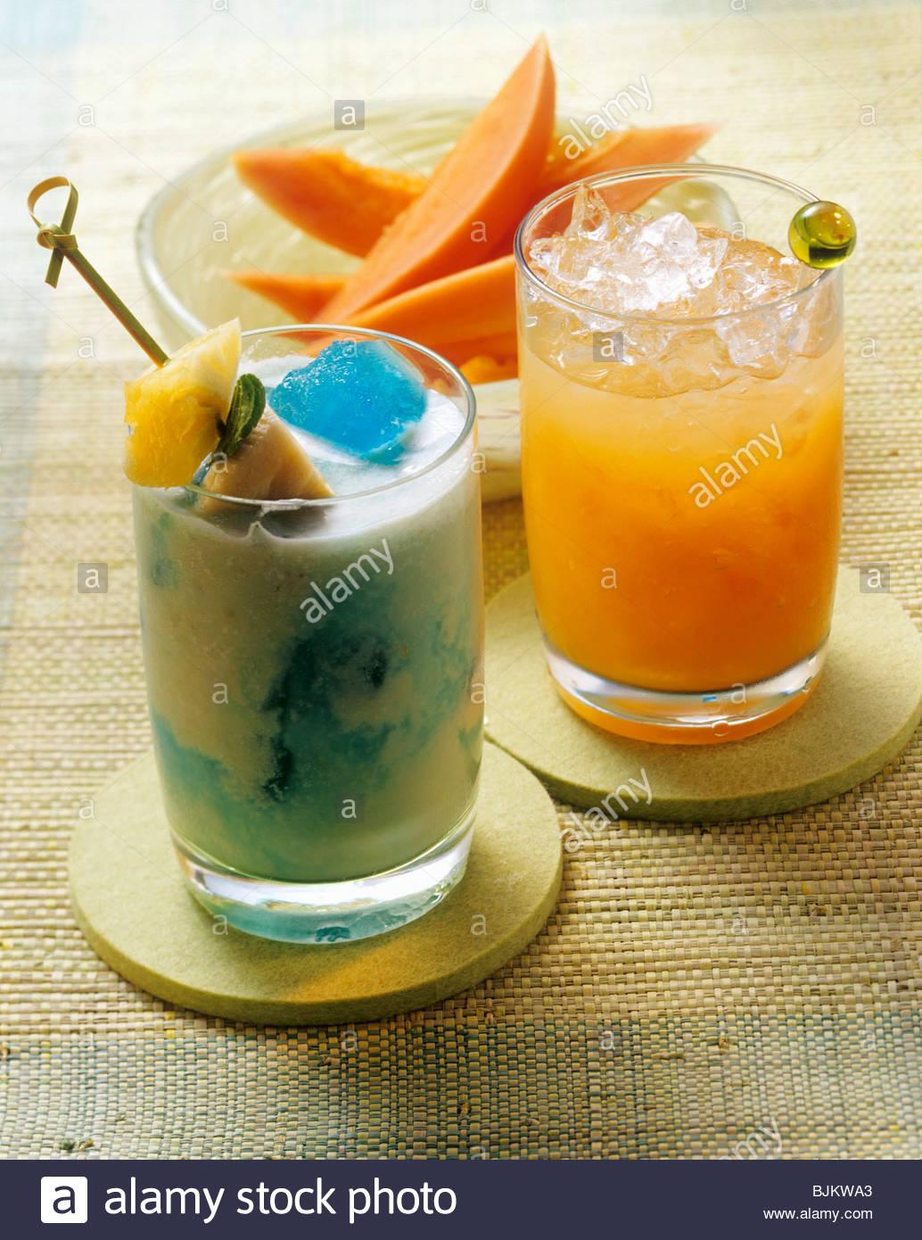 Tijuana Banana Boat (tequila drink), Pa & Ma (vodka drink) - Stock Image
