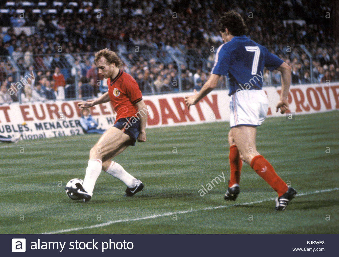 01/06/84 INTERNATIONAL FRIENDLY FRANCE V SCOTLAND (2-0) STADE VELODROME - MARSEILLE Scotland's Steve Archibald - Stock Image