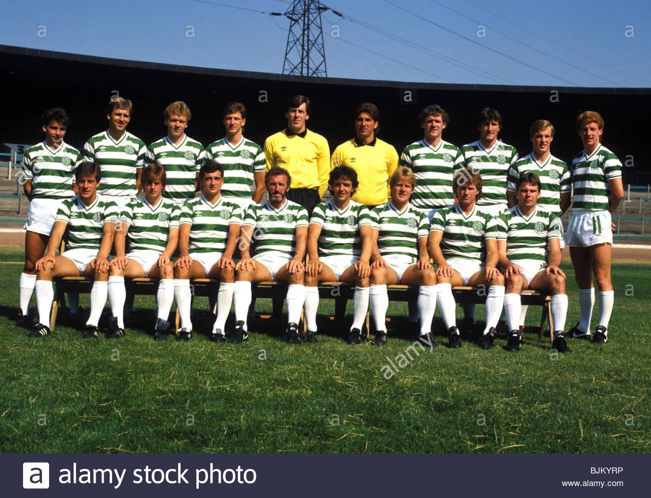 SEASON 1984/1985 CELTIC Celtic team picture - Stock Image