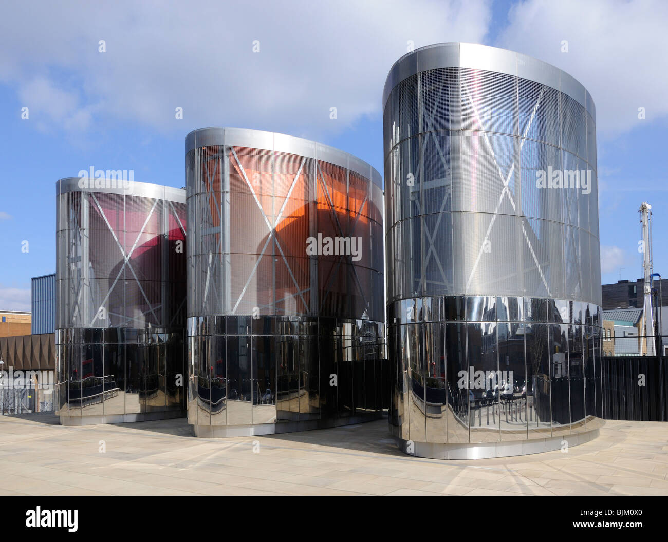 Ventilation shafts, City Road basin, Islington, London, England, UK. - Stock Image