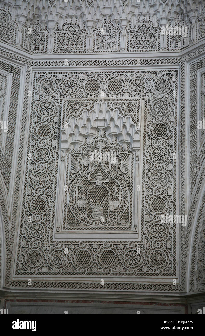 Ornate Plaster Ceiling In The Bardo Museum Capital City Of Tunis Tunisia North Africa