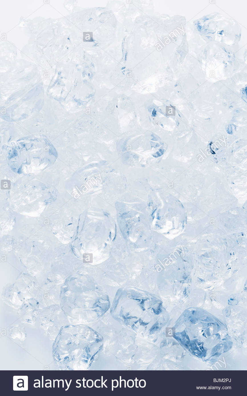 Many ice cubes - Stock Image