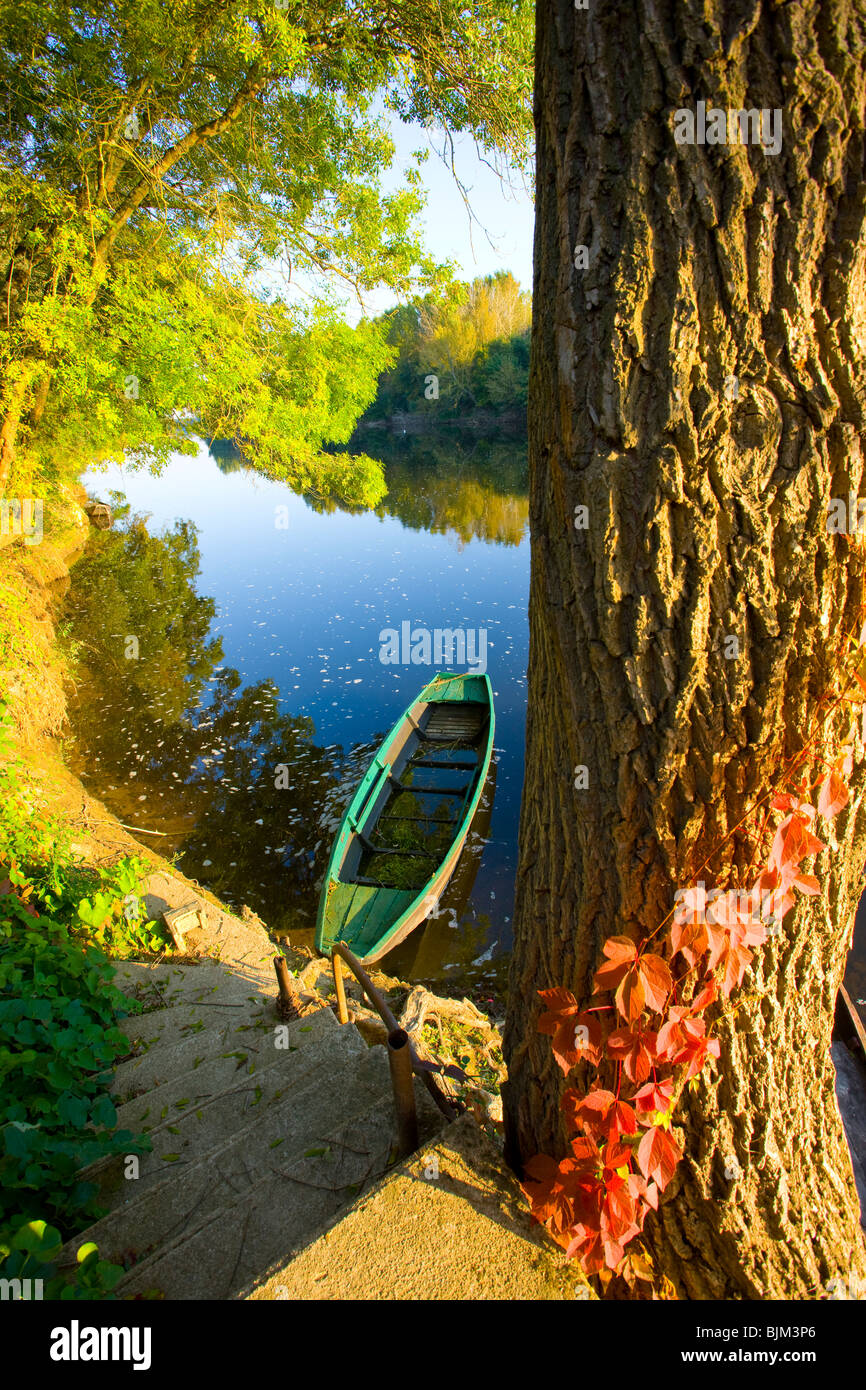 The Loire River, Loire Valley, France, UNESCO World Heritage Site - Stock Image