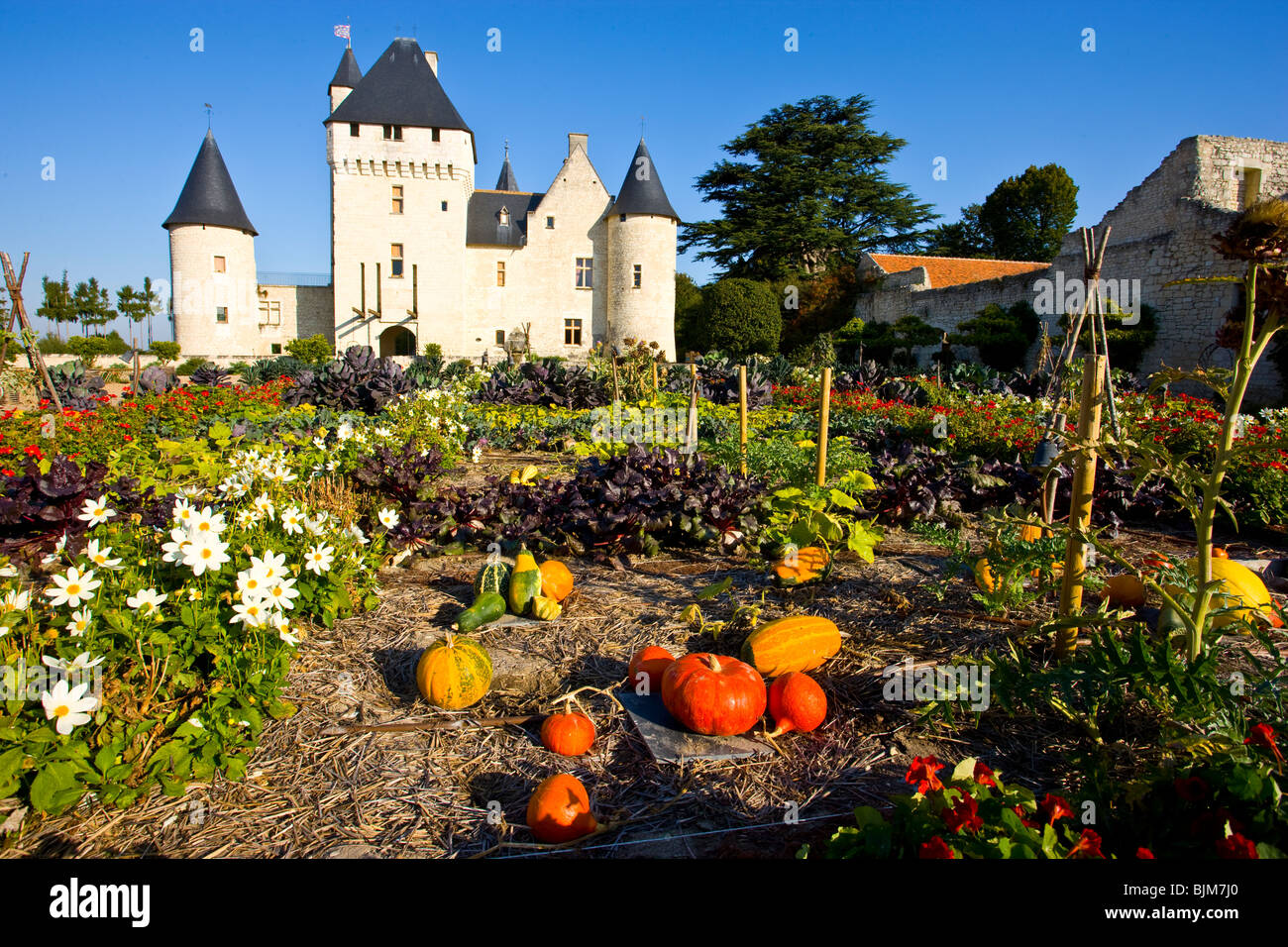 Rivau Castle and gardens, Loire Valley, France, UNESCO Heritage Site, 15th Century - Stock Image